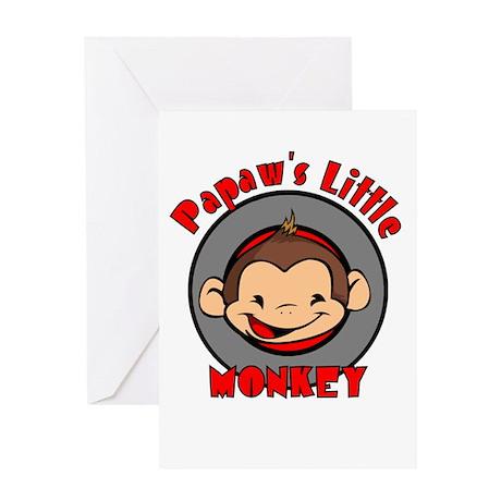 Papaw's Little Monkey (boy) Greeting Card