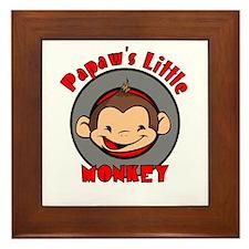 Papaw's Little Monkey (boy) Framed Tile