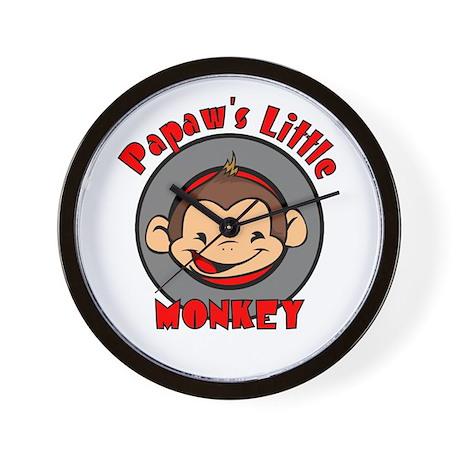 Papaw's Little Monkey (boy) Wall Clock
