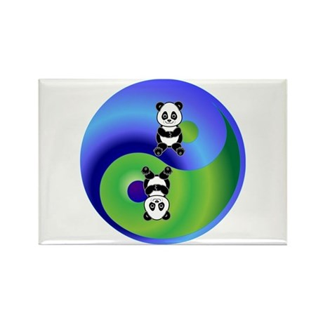 Panda Rectangle Magnet (100 pack)
