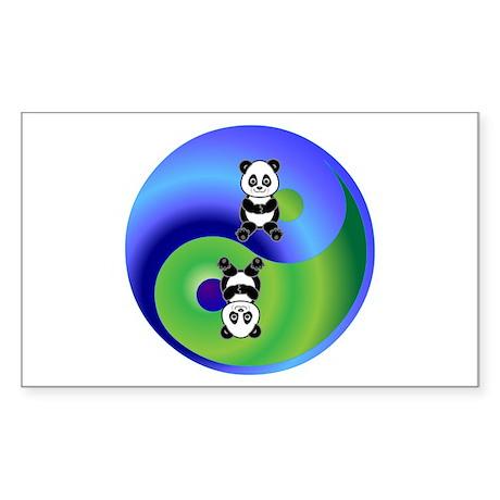 Panda Sticker (Rectangle)
