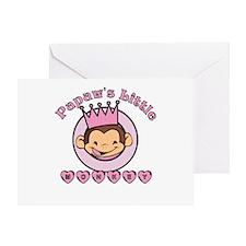 Papaw's Little Monkey (girl) Greeting Card
