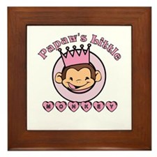 Papaw's Little Monkey (girl) Framed Tile