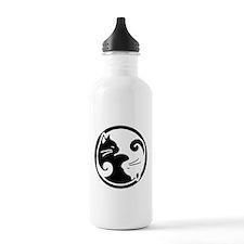 Yin Yang Cats: 1 Liter Water Bottle