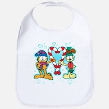 Garfield Candy Cane Heart Bib