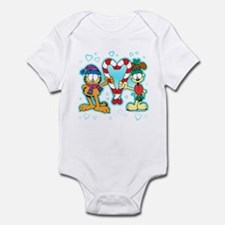 Garfield Candy Cane Heart Infant Bodysuit