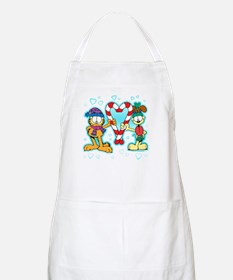 Garfield Candy Cane Heart Apron