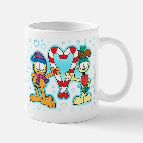 Garfield Candy Cane Heart Mug