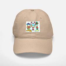 Garfield Candy Cane Heart Baseball Baseball Cap