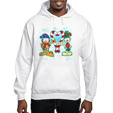 Garfield Candy Cane Heart Hooded Sweatshirt