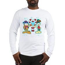 Garfield Candy Cane Heart Long Sleeve T-Shirt
