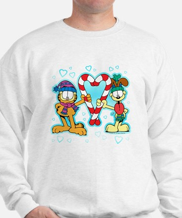 Garfield Candy Cane Heart Jumper