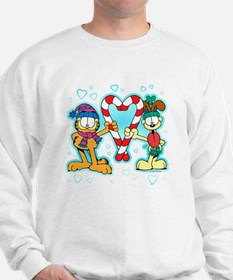 Garfield Candy Cane Heart Sweatshirt