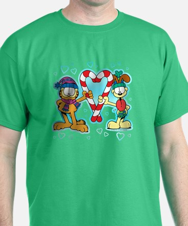 Garfield Candy Cane Heart T-Shirt