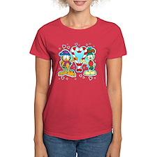Garfield Candy Cane Heart Women's Dark T-Shirt