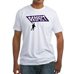 Respect Wear Purple anti-Bullying Fitted T-Shirt