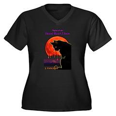 BRM Women's Plus Size V-Neck Dark T-Shirt