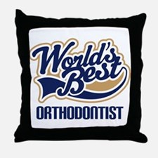 Orthodontist Throw Pillow