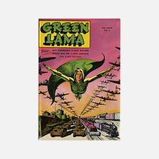 $4.99 Classic Green Lama Rectangle Magnet