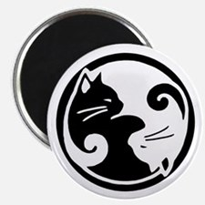 Yin Yang Cats: Magnet