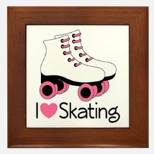 I Love Skating Framed Tile