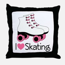 I Love Skating Throw Pillow