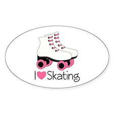 I Love Skating Decal