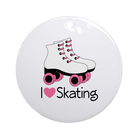 I Love Skating Ornament (Round)