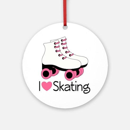 I Love Skating Ornament (Round)