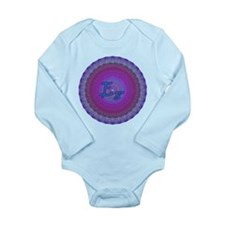 E8 Lie Blue Long Sleeve Infant Bodysuit