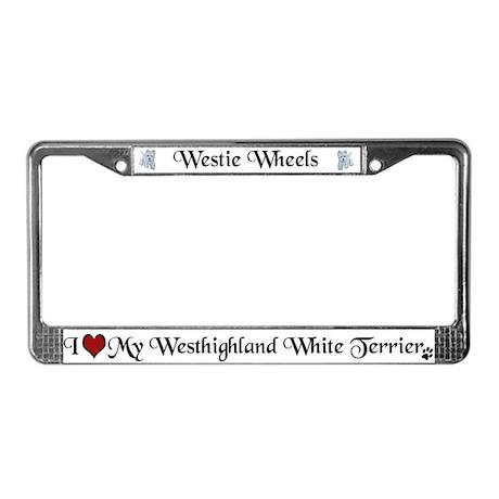 Westie License Plate Frame
