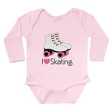 I Love Skating Long Sleeve Infant Bodysuit