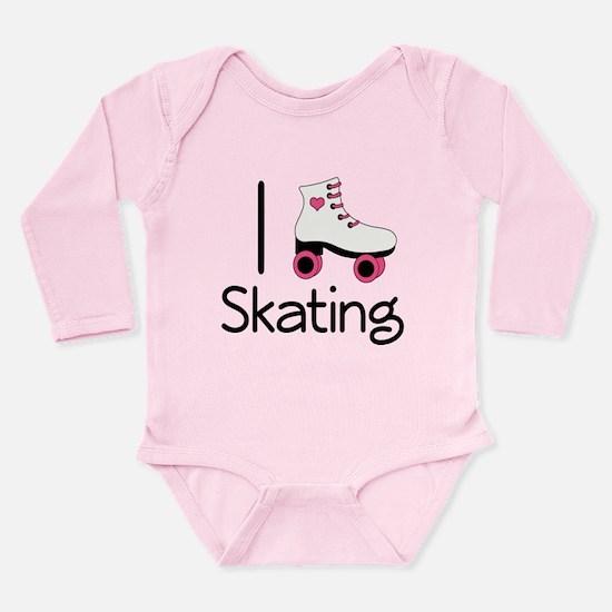 I Love Roller Skating Long Sleeve Infant Bodysuit