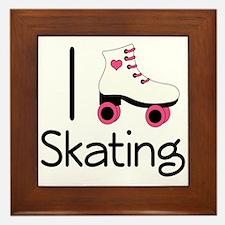 I Love Roller Skating Framed Tile