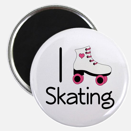 I Love Roller Skating Magnet