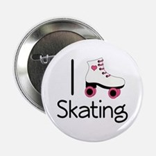 "I Love Roller Skating 2.25"" Button"