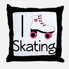 I Love Roller Skating Throw Pillow