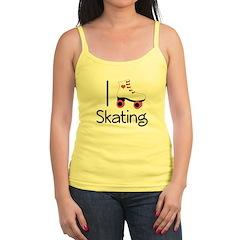 I Love Roller Skating Jr. Spaghetti Tank