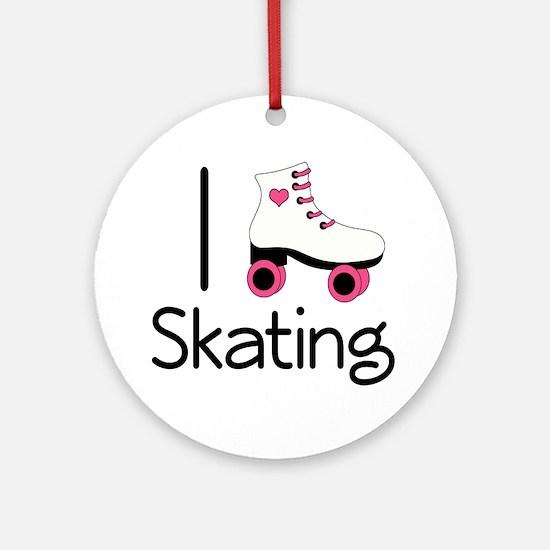 I Love Roller Skating Ornament (Round)
