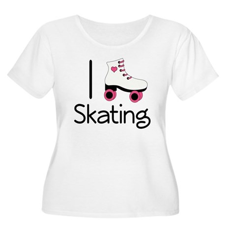I Love Roller Skating Women's Plus Size Scoop Neck