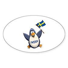 Sweden Penguin Decal