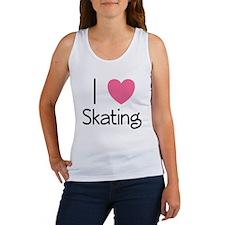Pink I Heart Skating Women's Tank Top