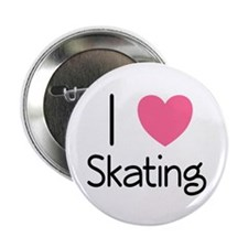 """Pink I Heart Skating 2.25"""" Button"""