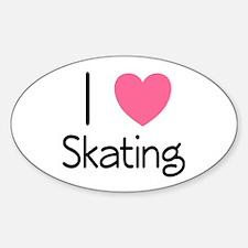 Pink I Heart Skating Decal