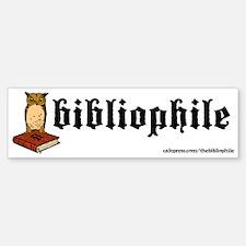 Bibliophile Owl Logo Bumper Bumper Sticker