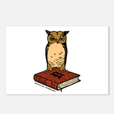 Bibliophile Owl Logo Postcards (Package of 8)
