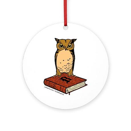 Bibliophile Owl Logo Ornament (Round)