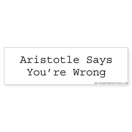 Aristotle Bumper Sticker