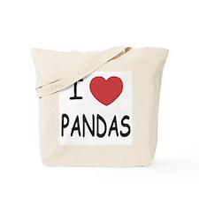 I heart pandas Tote Bag