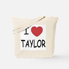 I heart taylor Tote Bag